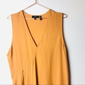 Theory Tops - NWOT Theory Yellow Asymmetrical Silk Blouse L
